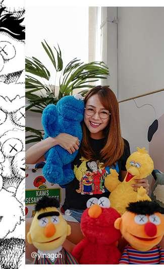 @yinagoh with her KAWS x Sesame Street Plush Toys