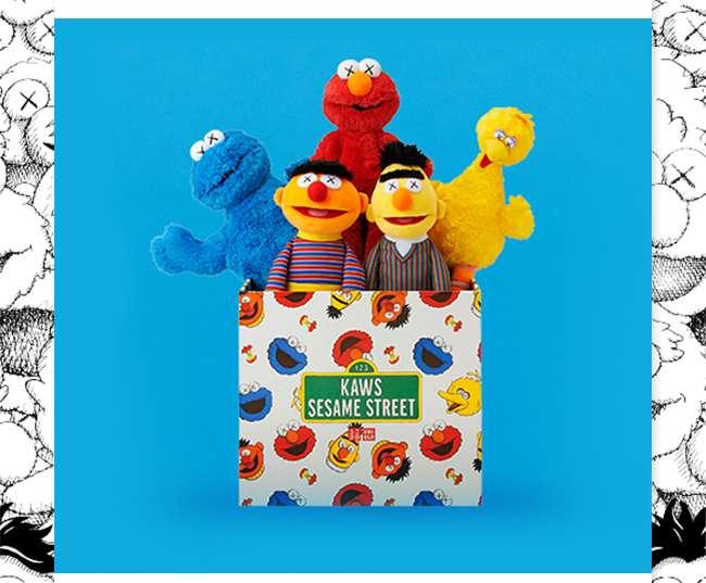KAWS x Sesame Street Plush Toy Complete Box Set