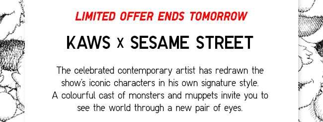 KAWS x Sesame Street   See the world through a new pair of eyes