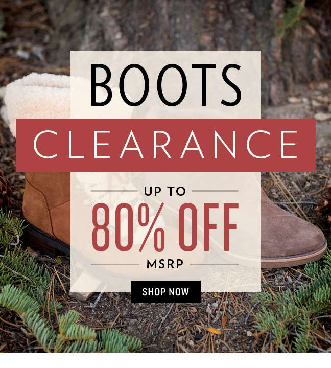 Shop Boots Clearance