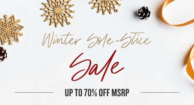 Shop Winter Sole-stice Sale