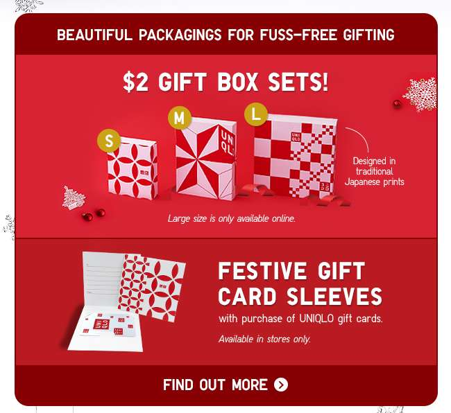 $2 Gift Box Sets & Festive Gift Card Sleeves