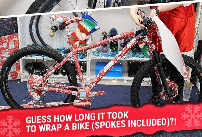 Guess how long it took to wrap a bike (spokes included)?!