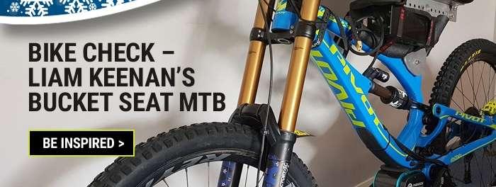 Bike check – Liam Keenan's bucket seat MTB