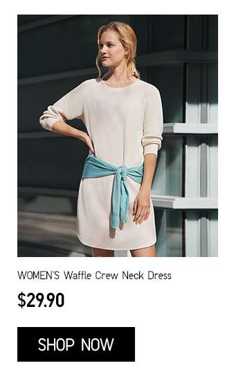 Women's Waffle Crew Neck Dress at $29.90