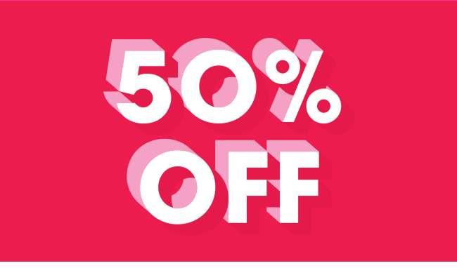50% OFF SALE | SHOP NOW
