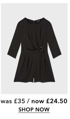Black D-Ring Mini Playsuit