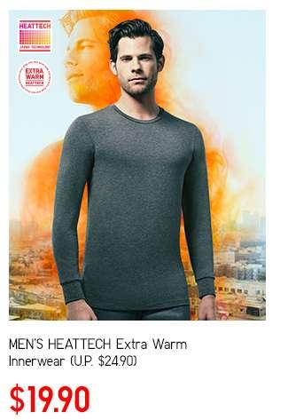 Men's HEATTECH Extra Warm Innerwear at $19.90
