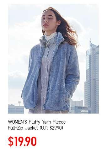 Women's Fluffy Yarn Fleece Full-Zip Jacket at $19.90
