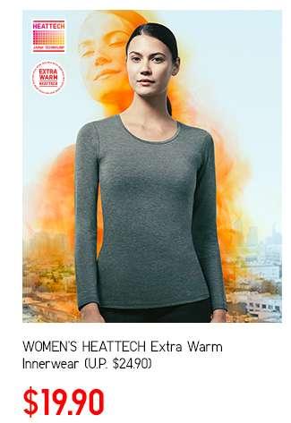 Women's HEATTECH Extra Warm Innerwear at $19.90