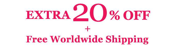 GET EXTRA 20% OFF + Free Worldwide Shipping! Ends 31 Dec 2018.