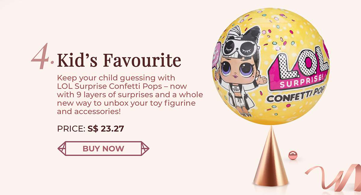 Keep your child guessing with LOL Surprise Confetti Pops