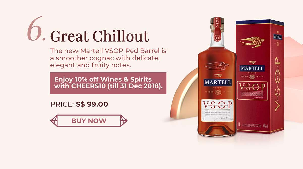 The new Martell VSOP Red Barrel is a smoother cognac with delicate, elegant and fruity notes