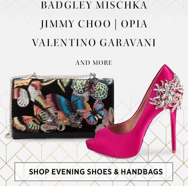 Shop Evening Shoes & Handbags