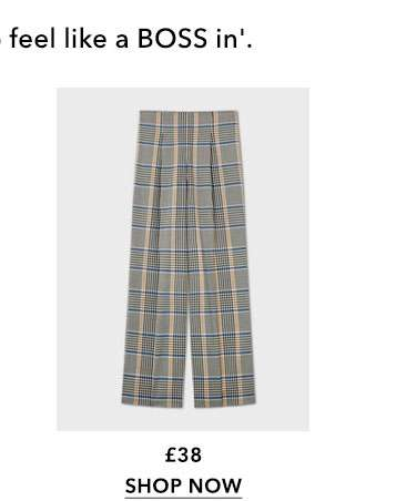 Multi Coloured Bold Check Corset Trousers