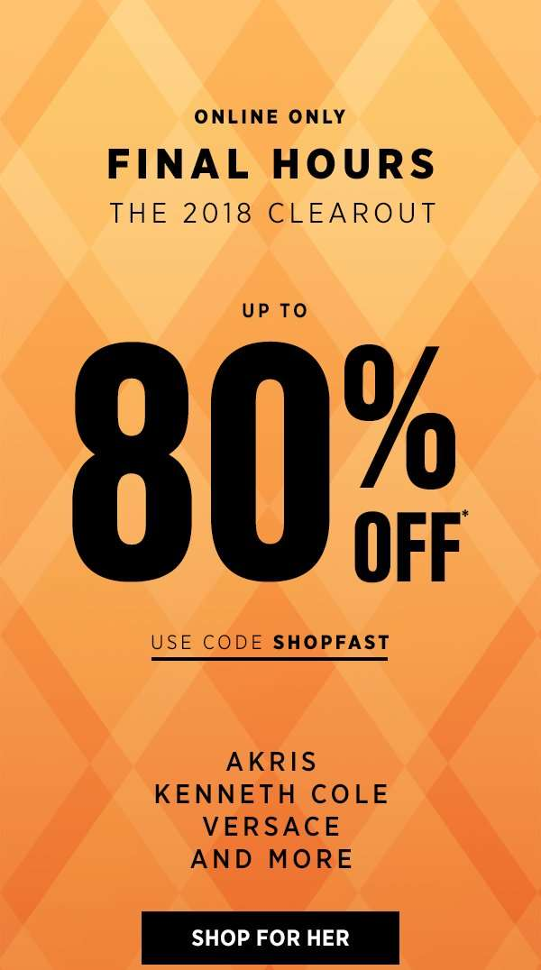 ac189d62b513 Saks OFF 5th] Final Hours: Up to 80% off Akris, Versace & more! + ...