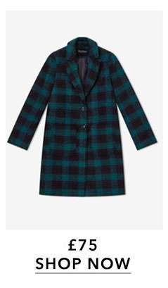 Green Check Pocket Coat