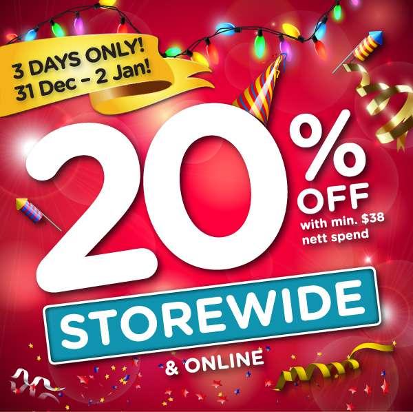 20% OFF STOREWIDE + ONLINE