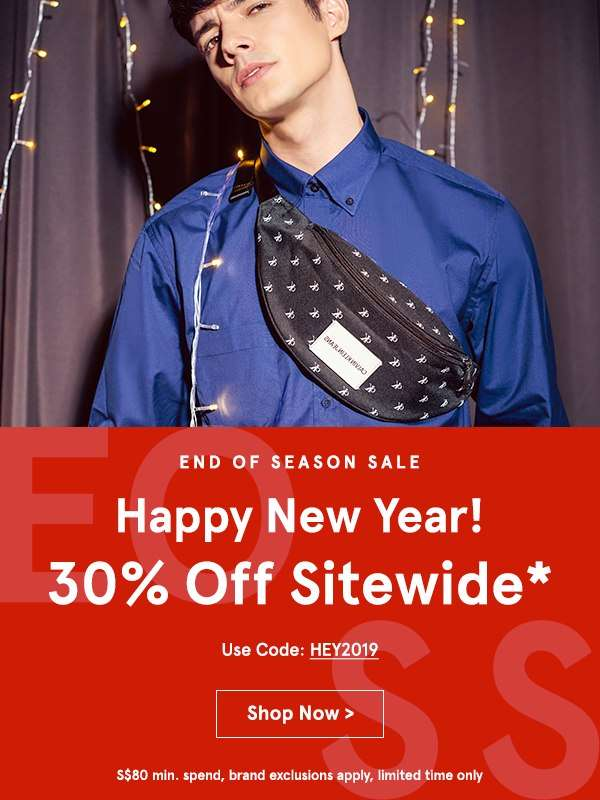 Flash Sale: Take 30% Off Sitewide! Use code BYENOW, min. spend S$80, brand exclusions apply