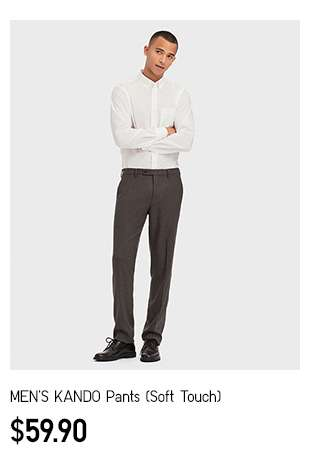 NEW! Men's KANDO Pants (Soft Touch) at $59.90