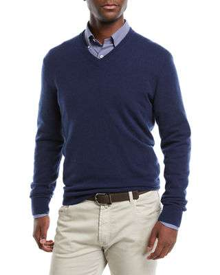 Men's Cloud Cashmere V-Neck Sweater
