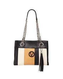 Valentino By Mario Valentino Kali Striped Leather Chain-Strap Tote Bag