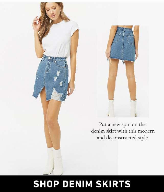Shop Denim Skirts