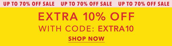 Extra 10% off with code:Extra10 - Shop now