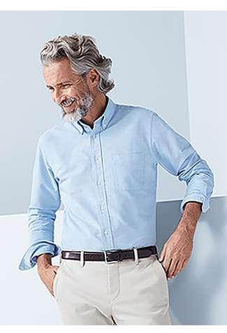 MEN's Oxford Long Sleeve Shirt at $39.90