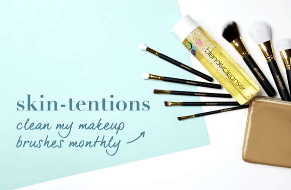 CLEAN MY MAKEUP BRUSHES MONTHLY