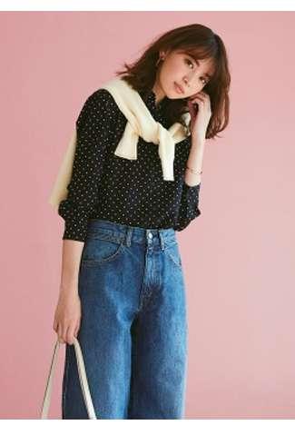 WOMEN's Rayon Printed Long Sleeve Blouse at $19.90