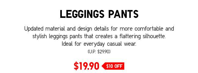 Leggings Pants | Comfortable and stylish leggings that create a flattering silhouette.