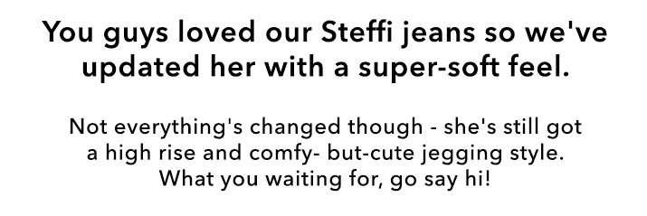 STEFFI Super High Waist Soft Skinny Black Jeggings