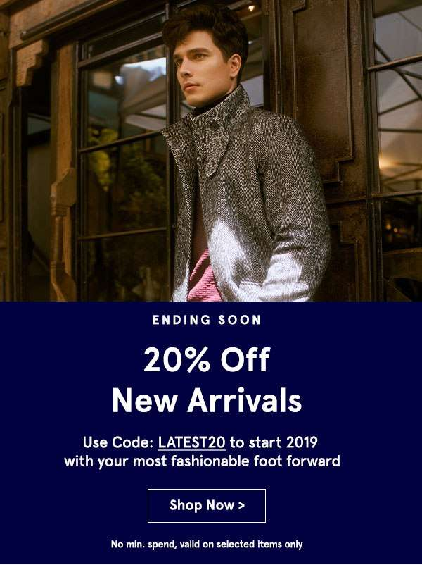 Ending Soon: 20% Off New Arrivals with code LATEST20