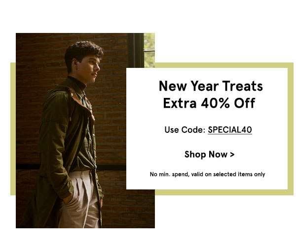 New Year Treats | EXTRA 40% Off!