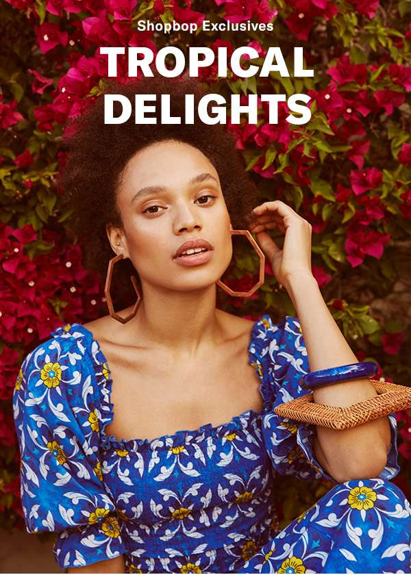 New from Rhode Resort: a just-for-us collection of airy cuts, bold prints, and vibrant hues (paradise, found!).