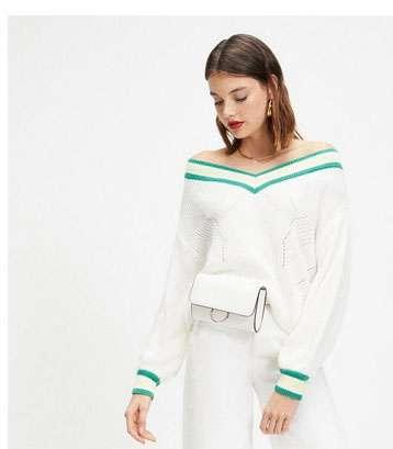 Cream Bardot Cricket Knitted Jumper