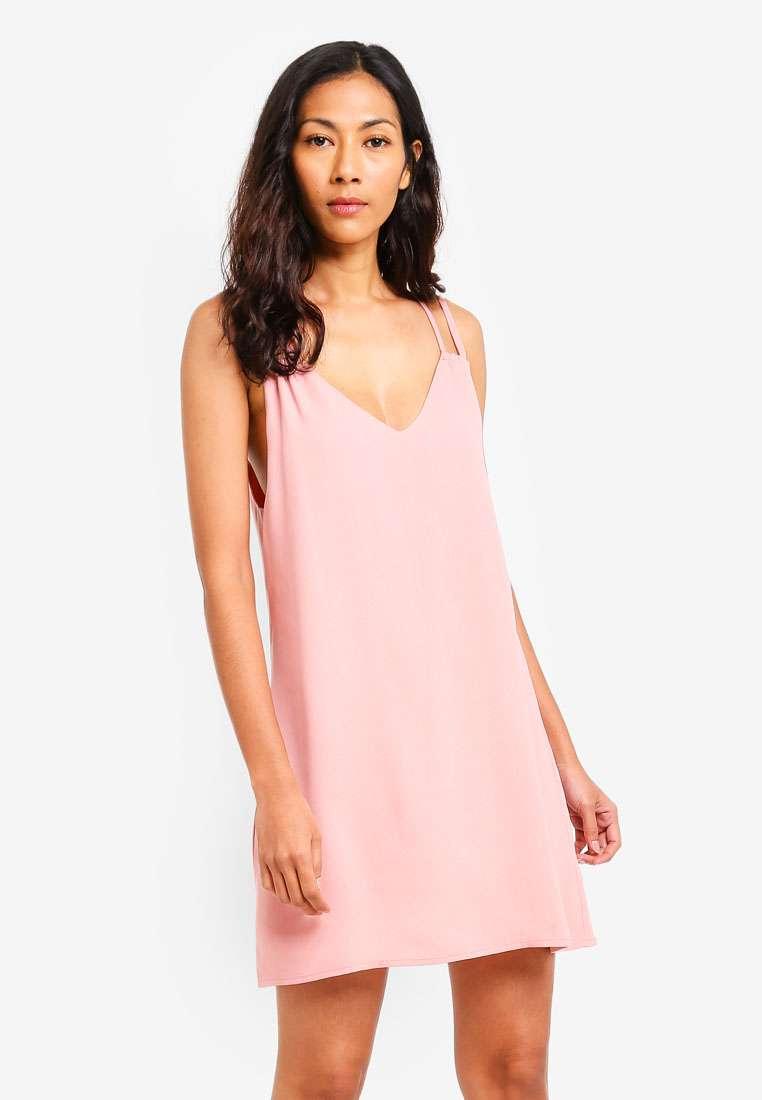 Basic Mini Double Strap Dress