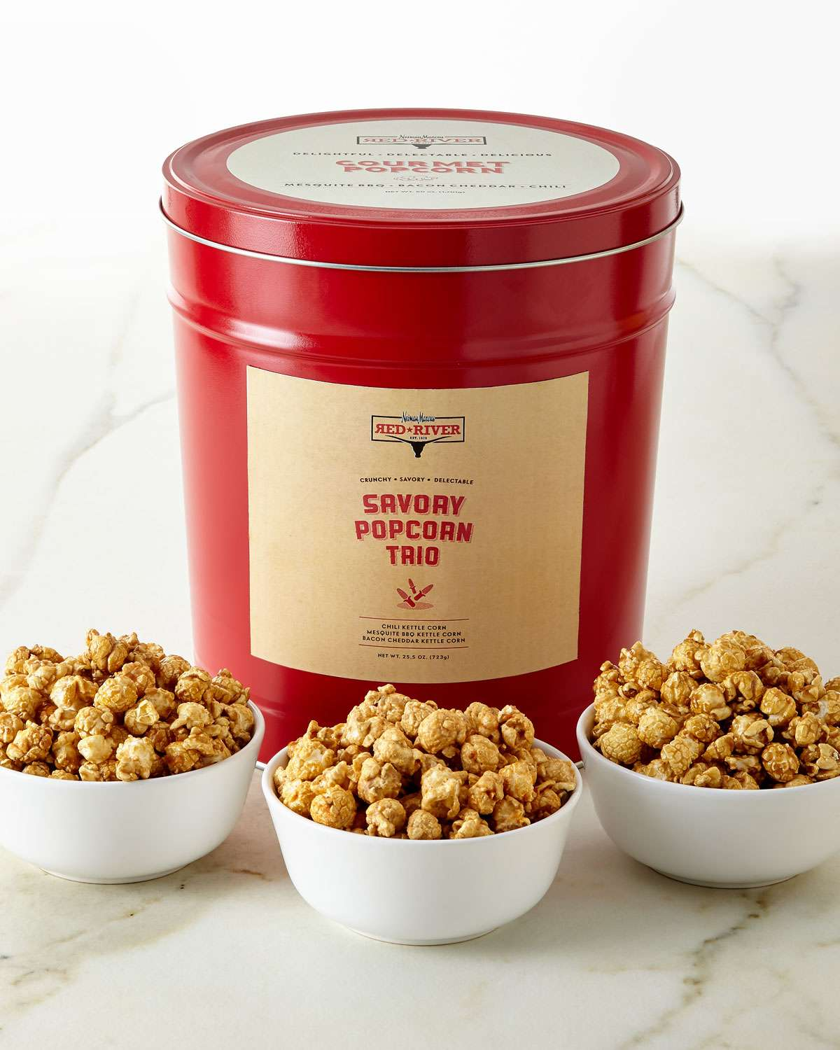 Red River Savory 3-Flavor Popcorn Tin