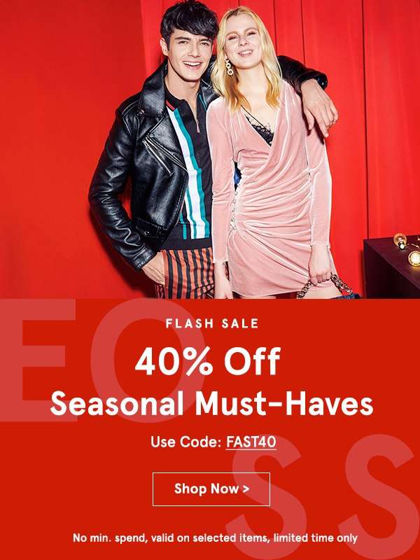 24 HOURS ONLY! EXTRA 40% OFF Seasonal Must-Haves