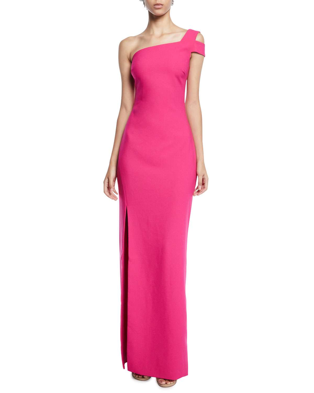 Maxson Asymmetric Cold-Shoulder Gown