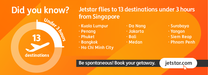 3hr destinations from Singapore
