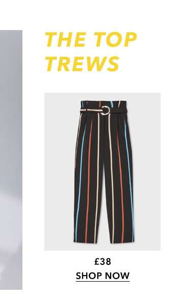 Multi Coloured Stripe Paperbag Trousers