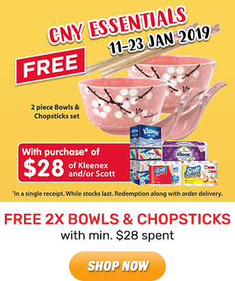 Kleenex: FREE 2x Bowls & Chopsticks Set with min. $28 spent. Shop Now!