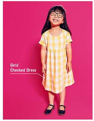 Girls' Checked Dress