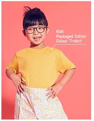 Kids' Packaged Cotton Colour T-shirt