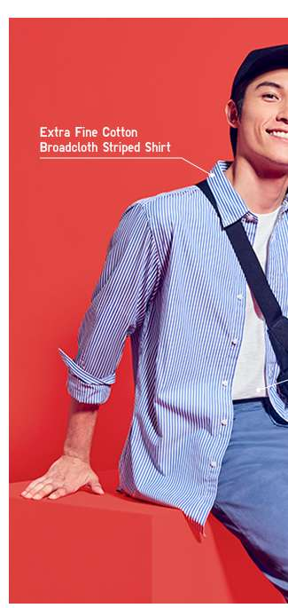 Men's Extra Fine Cotton Broadcloth Striped Shirt