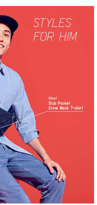 Men's Slub Pocket Crew Neck T-shirt