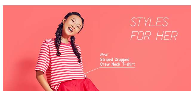 Women's Striped Cropped T-shirt