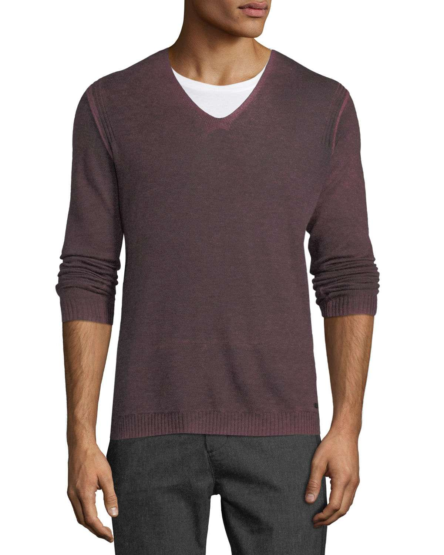 Men's Reverse-Seam Sweater